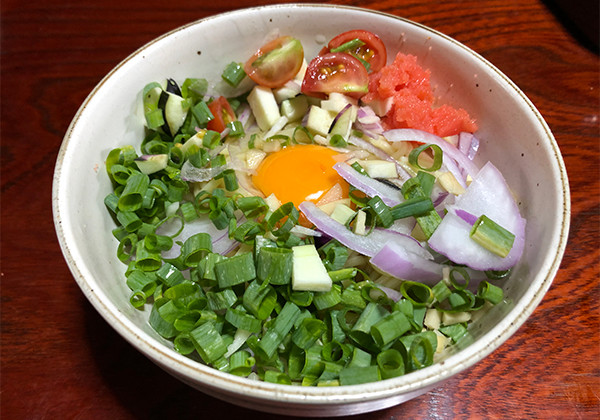 野菜たっぷり混ぜ麺の画像