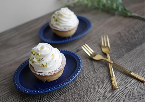 チーズクリームのモンブラン風タルトの画像