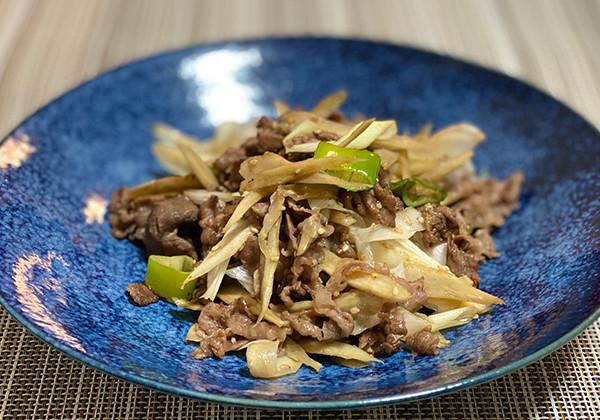 ピリ辛牛肉ごぼう炒めの画像