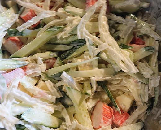 糸寒天の蟹サラダ