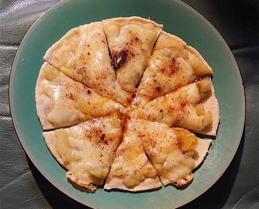 林檎のピザ