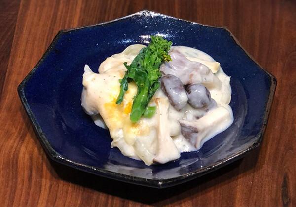 鱈とむかごときのこの豆乳グラタン