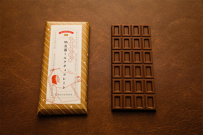 納豆菌ミルクチョコレート