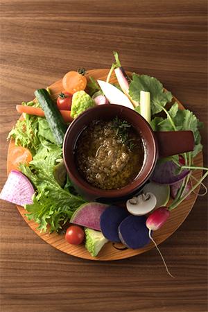バーニャカウダー 熊本野菜×CROSS FARM 厳選野菜 ハーブ香るアンショワソース