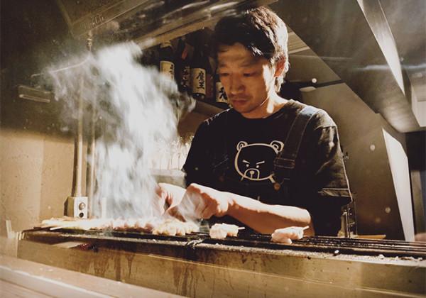 オリジナル焼台と紀州備長炭