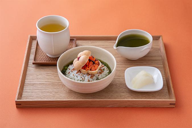 柚子燻製茶×燻製鮭と抹茶のお茶漬けセット