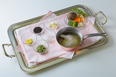 若鶏肉のコンフィと野菜 ハーブの香り 材料