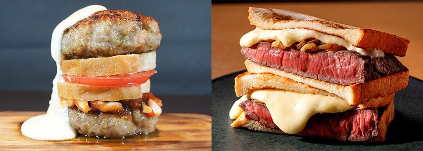 肉バーガー&ステーキサンド