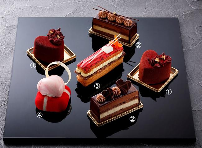 バレンタインカットケーキ