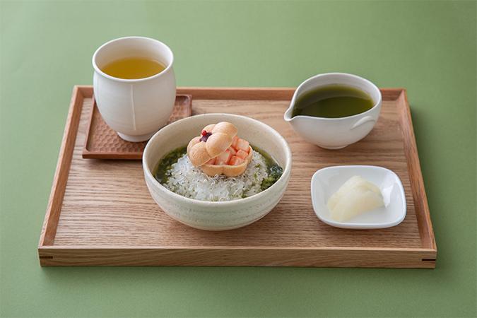 山椒燻製茶×京漬物と抹茶のお茶漬けセット