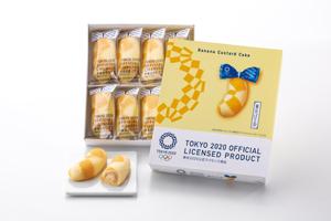 東京2020オリンピックエンブレムバナナカスタードケーキ