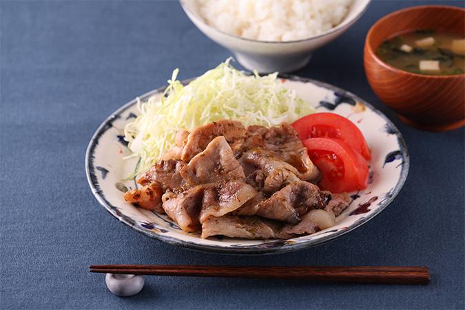 豚の生姜焼き風 豚パクチー焼き