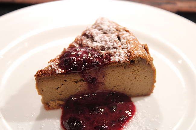 グルテンフリーのバスク風チーズケーキ