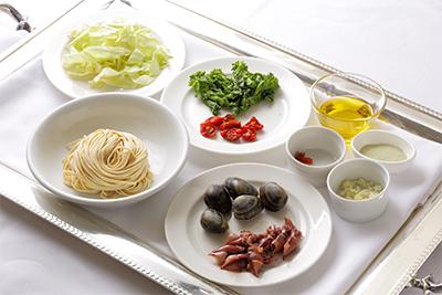 春キャベツと菜の花、ホタルイカのスパゲッティ 材料
