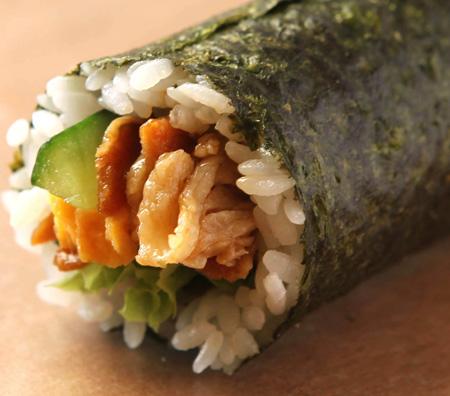 肉巻き丸かぶり寿司