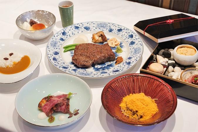 福永喜三郎商店厳選和牛の炉釜炭火焼 コース