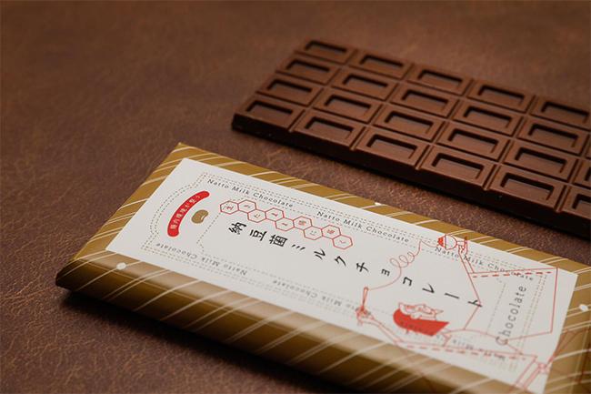 納豆菌ミルクチョコレート板チョコタイプ