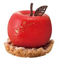 真っ赤なりんごのレアチーズ
