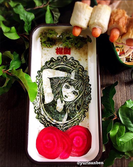 楳図かずおの美少女海苔アート