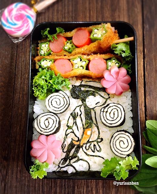 ミッキー スムクリの海苔アート弁当の画像