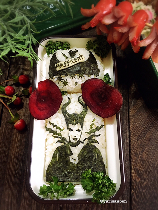 「アンジェリーナ・ジョリー」の海苔アート弁当の画像