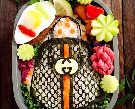 GUCCIのバッグ海苔アート弁当の画像