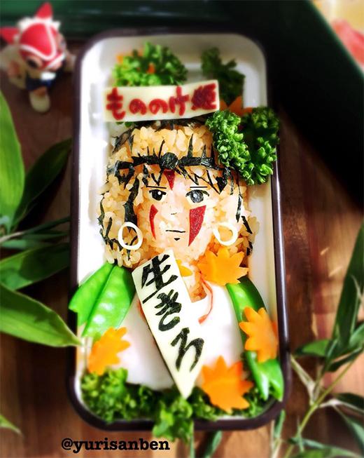 もののけ姫「サン」のデコ弁当