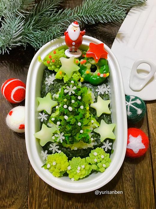 漬物と野菜のクリスマス弁当