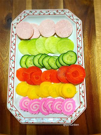 水玉ちらし寿司の材料