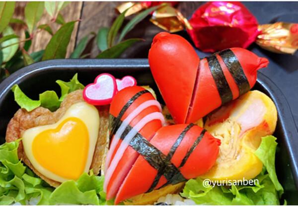 GODIVAのチョコレート海苔アート弁当